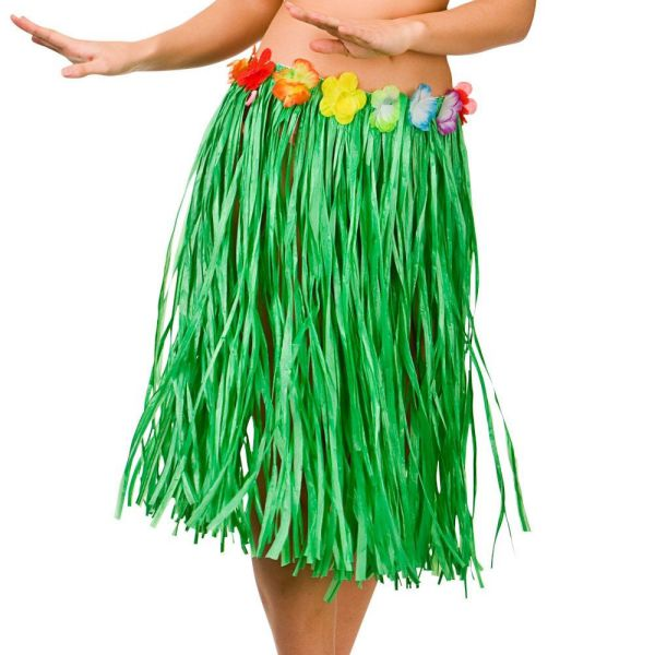Simple New Kids Hawaiian Hula Grass Skirt Flower