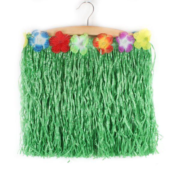 Kids Hawaiian Hula Grass Flower Skirt Party Beach