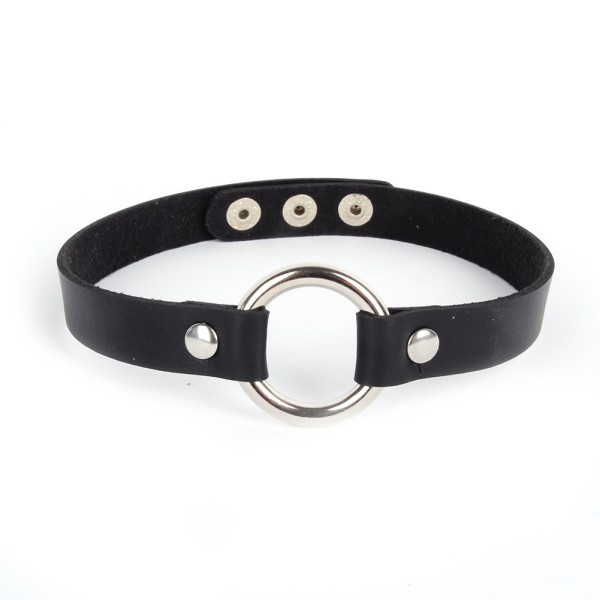 Punk-Lady-Gothic-Leather-Choker-Heart-Chain-Spike-Rivet-Buckle-Collar-Necklace