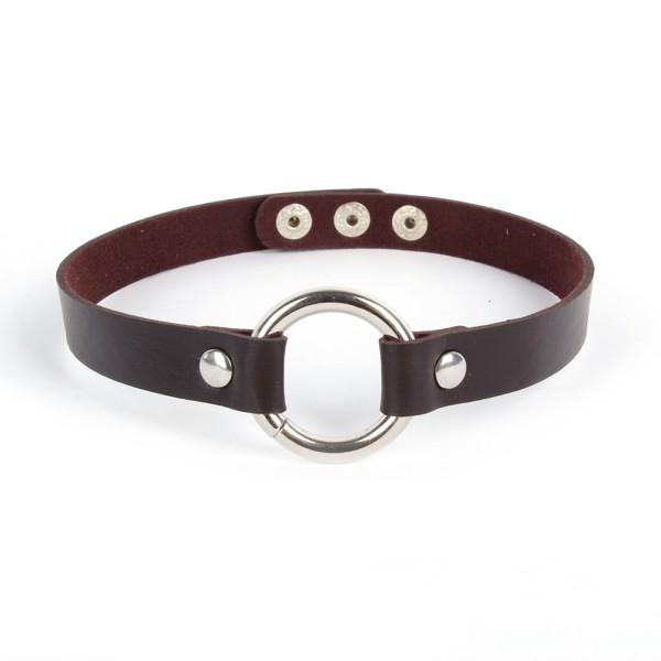 Leather collar punk