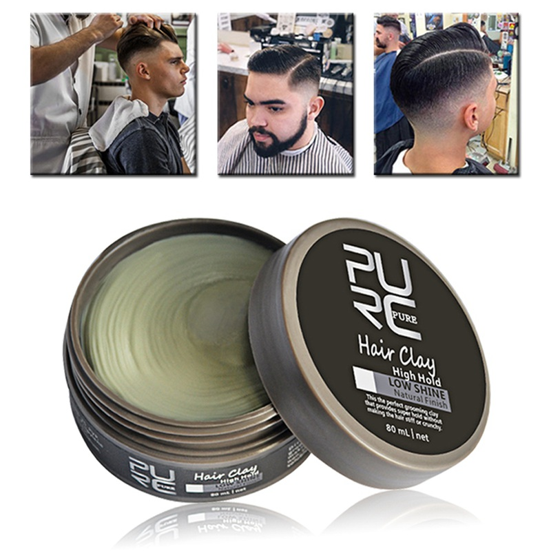 Wax For Hair Styling Men Purc Cement Clay Messy Look Hair Styling Wax High Hold Barber .