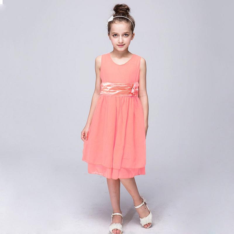 Nuevo Niño Niña Princesa Vestido Fiesta Desfile Boda Dama De Honor ...