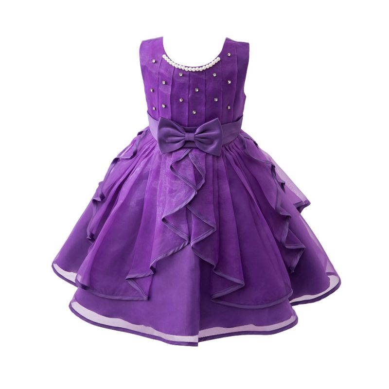 Flower Girl Princess Pageant Wedding Party Formal Gown Kid Baby Lace ...