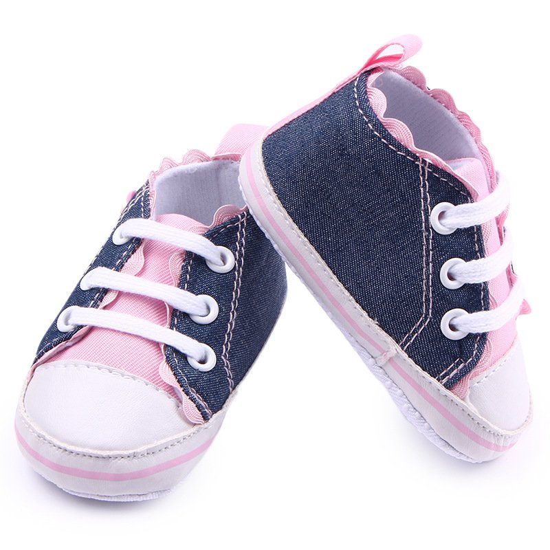 Infant Baby Boy Girl Child Soft Sole Shoes Toddler Canvas