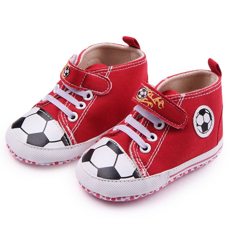 Baby Boy Girl Soft Sole Football Crib Shoes Sneakers Kids ...