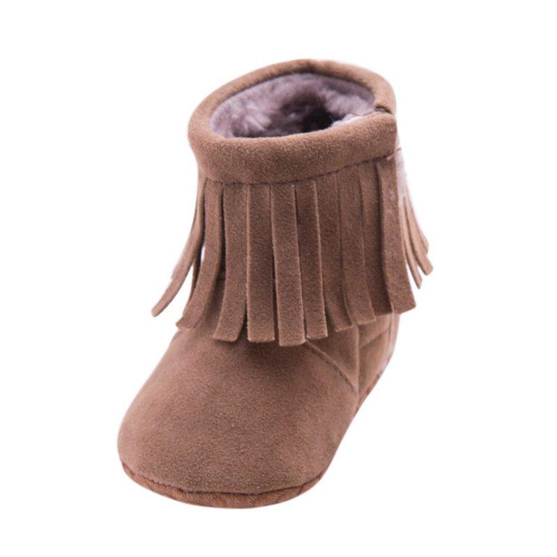 newborn baby tassels soft sole warm boots infant