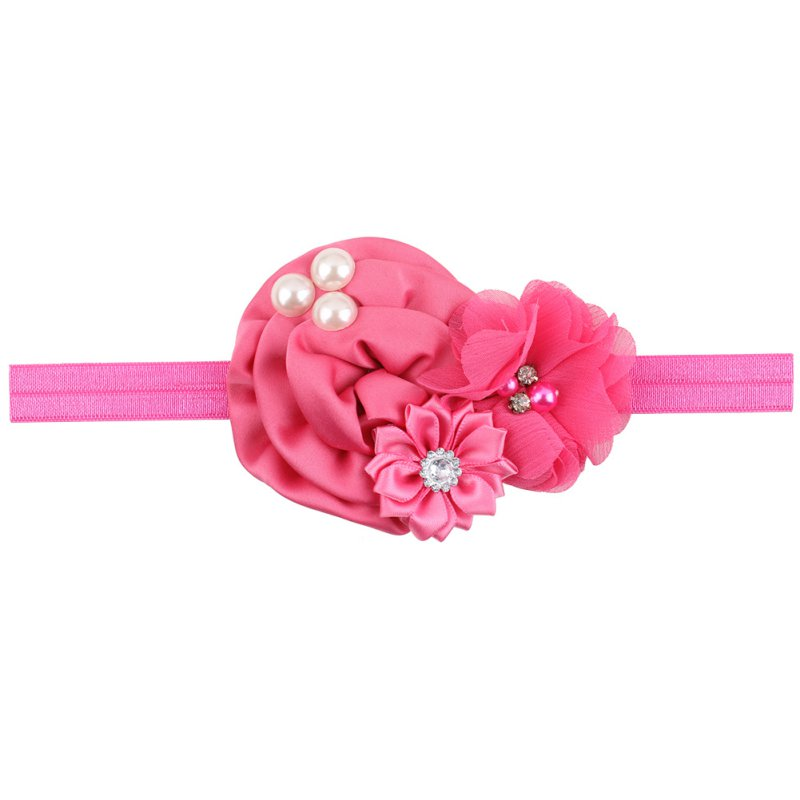 1/8Pc Kids Girl Baby Toddler Lace Flower Headband Hair Band Accessories Headwear
