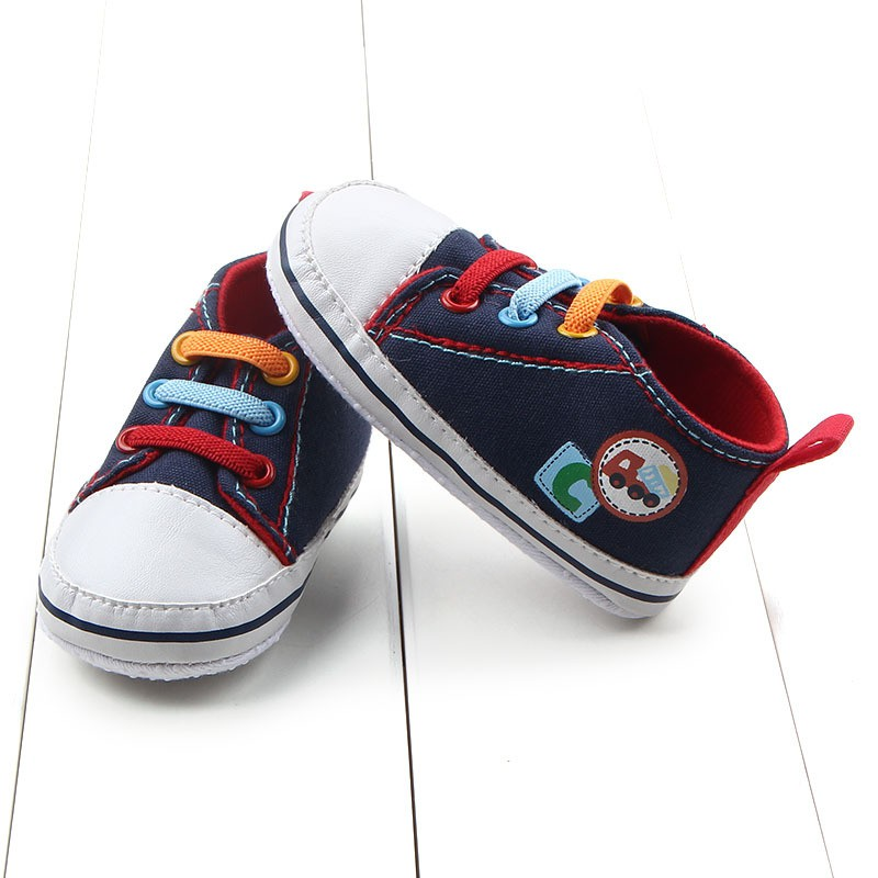 baby boy 0 12m canvas lace up shoes infant toddler