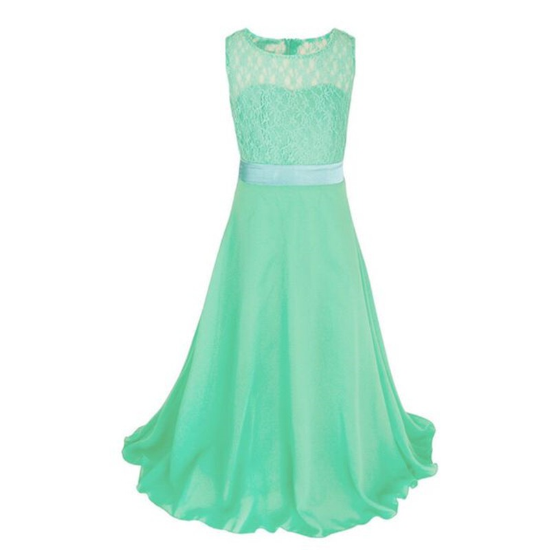 Kids Girl Lace Princess Dress Children Pageant Wedding Bridesmaid ...