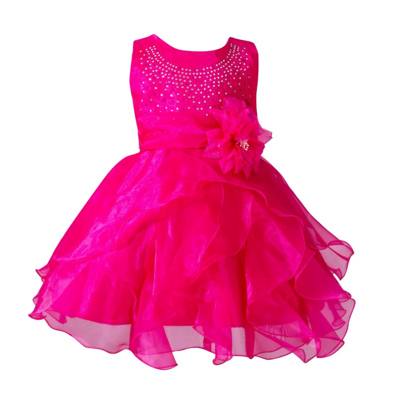Baby Girl Toddler Pageant Tutu Fancy Dress Flower Princess ...