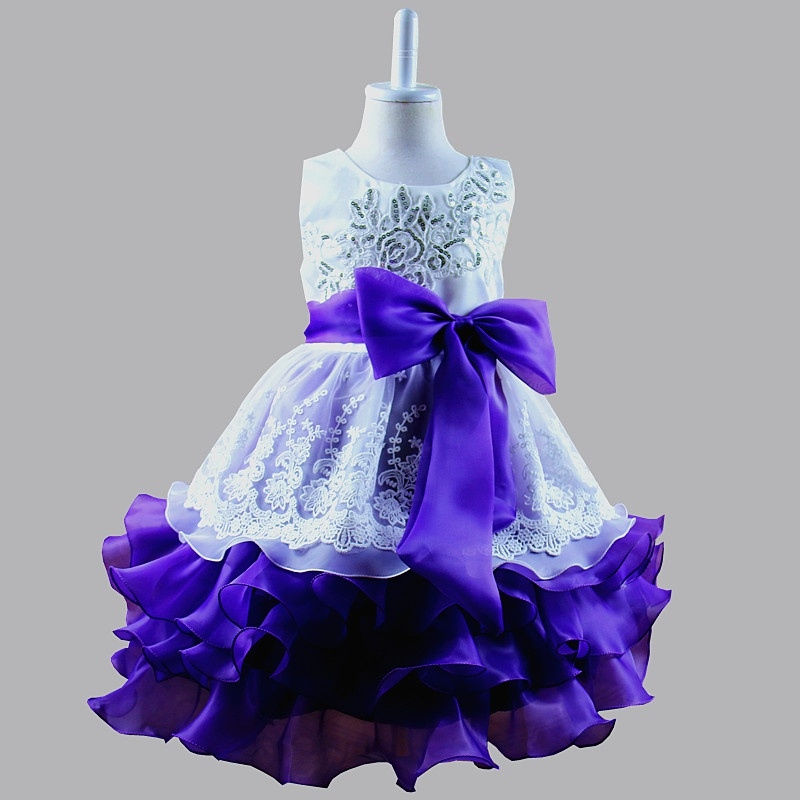 Baby Toddler Girl Dress Princess Kids Pageant Birthday Wedding Party ...