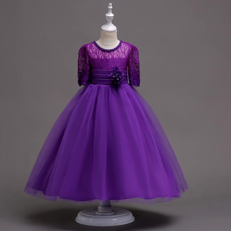 AU Flower Girl Bridesmaid Dress Floor Length Special Occasion ...