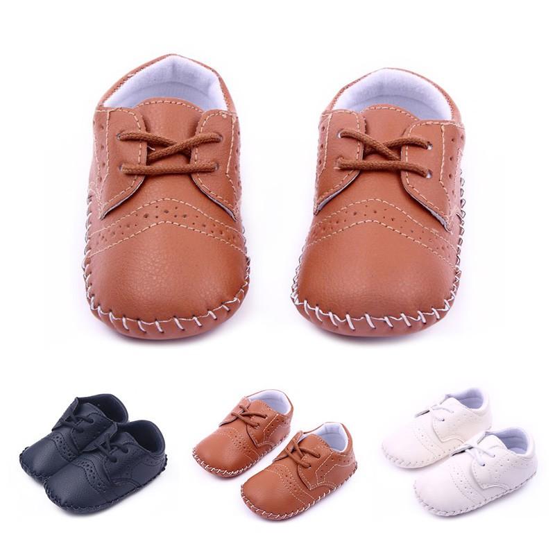 0 12m baby boy soft crib shoes slip on pu