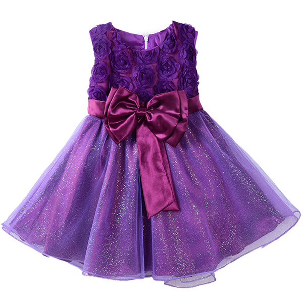 Flower Girl Princess Pageant Wedding Party Formal Gown Kid Baby ...