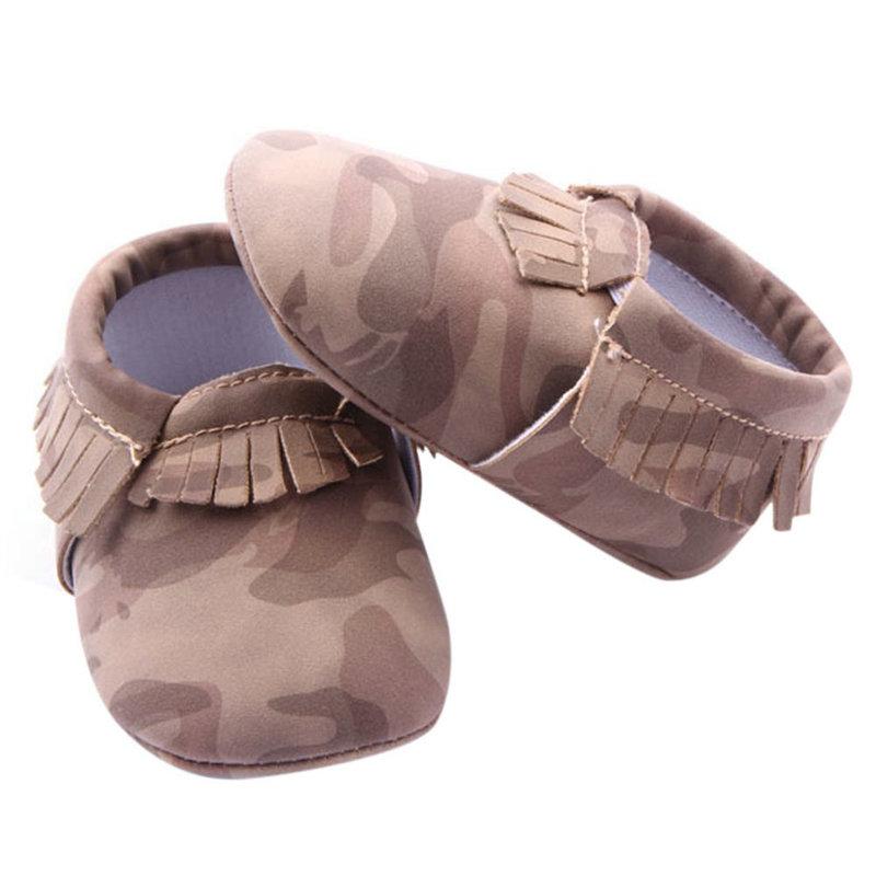 Infant Girls Boys Baby Soft Shoes Toddler Tassel Soft Slip