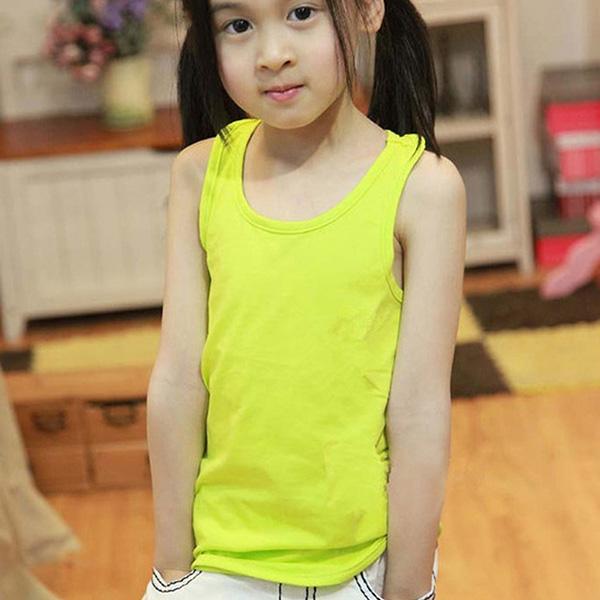 Kids Girls Boys Summer Sleeveless Casual Modal Vest Tank