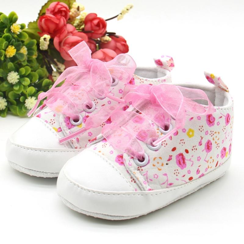 39d84e6d4c5d Kid Baby Girl Toddler Non-slip Soft Sole Crib Sneaker Shoes ...