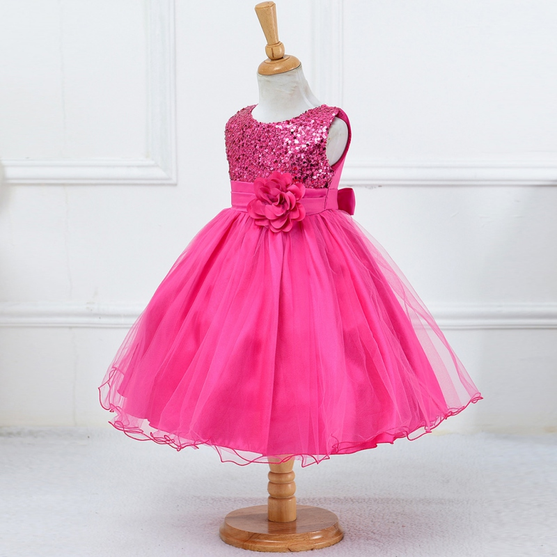 Kids Baby Girl Princess Puffy Dress Toddler Wedding Party Pageant ...