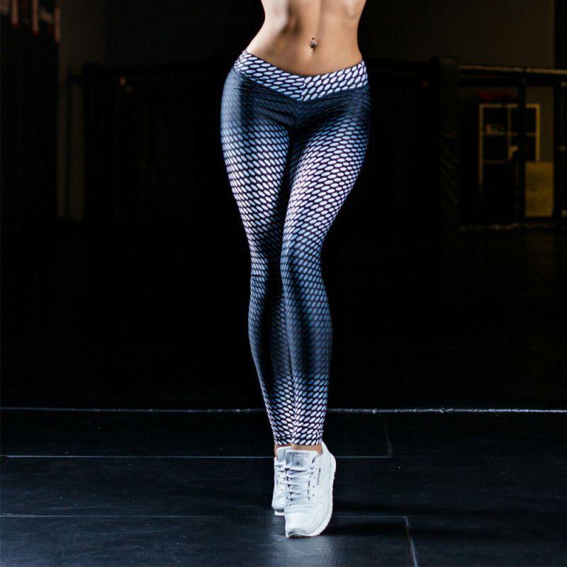 Fitness Leggings Damen Blickdicht: Women Sports Trouser Yoga Printed Workout Gym Leggings