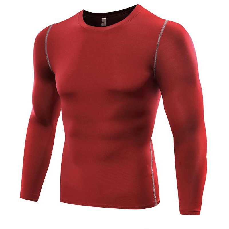 Mens Compression Base Layer Tight Top Long Sleeve Gym
