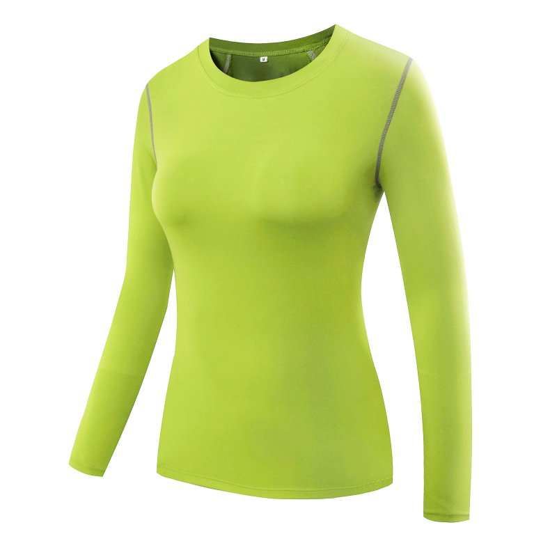 Workout Tops: USA Women Long Sleeve Compression Base Layer Tight Tops