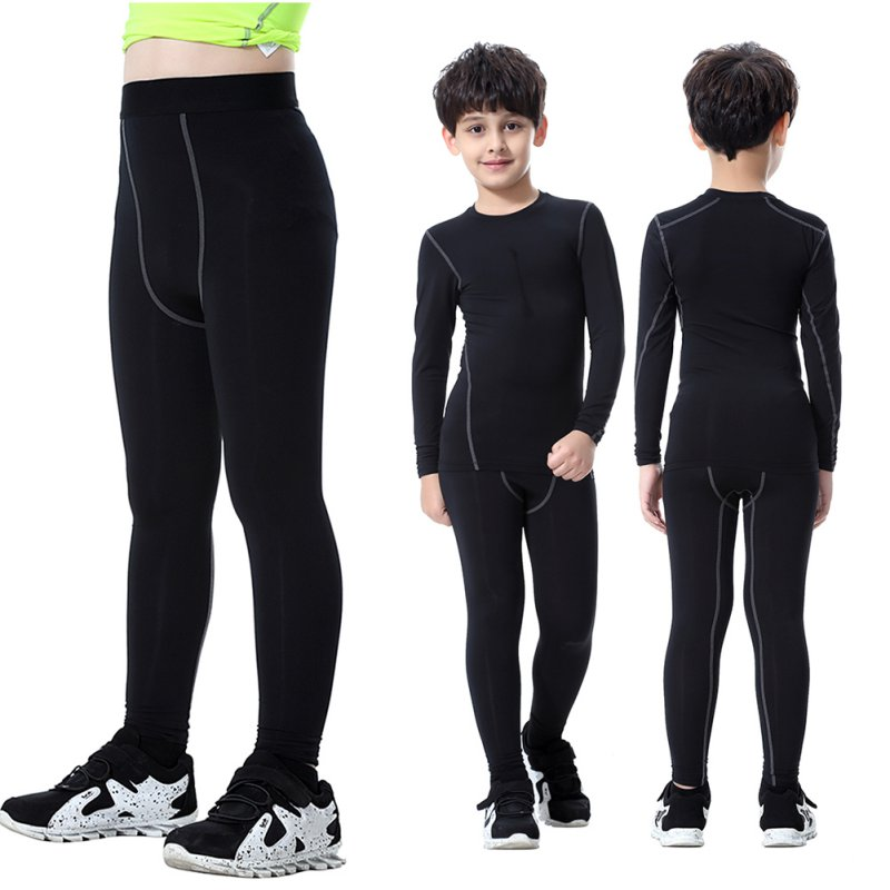 bdb9d3e10e Details about US Kids Boys Long Leggings Compression Base Layer Pants Tight  Running Trousers