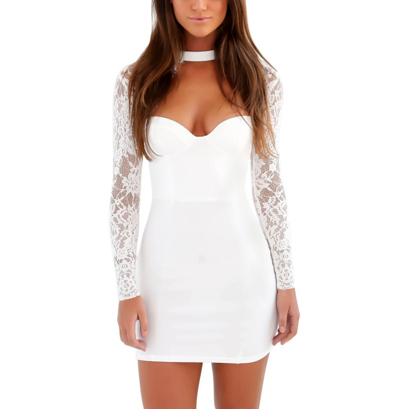 Sexy-Women-Ladies-Long-Sleeve-Short-Mini-Dress-Mesh-Lace-Evening-Party-Cocktail