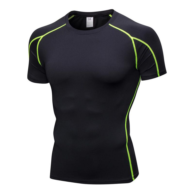 Men Compression Under Base Layer Armour Tight T-Shirt Athletic Sport Gym Shorts