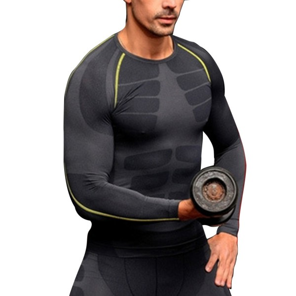 New M-XL Men Compression Outdoor Sports Tight Shirts Fitness GYM ...