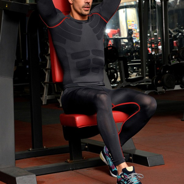 9224766a37b00 Men Compression Pants Gym Base Layer Skin Tights Running Workout ...