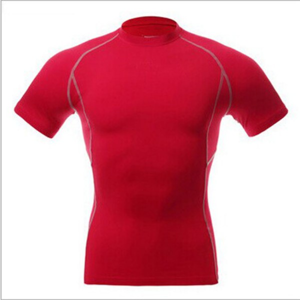 Men sport athletic top compression shirt under short for Simply for sports brand t shirts