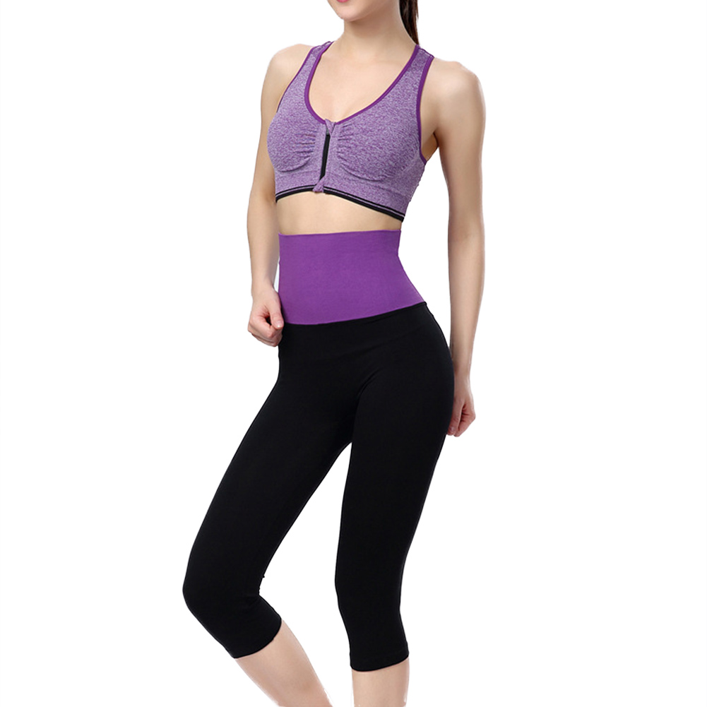 New Women's Stretch Fitness Running Yoga Gym Pants Cropped