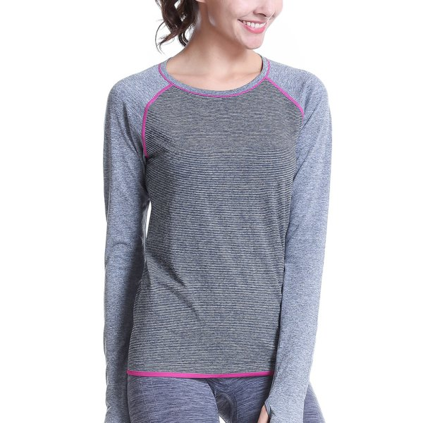 Women Fitness Shirts Long Sleeve Sports Workout Running T