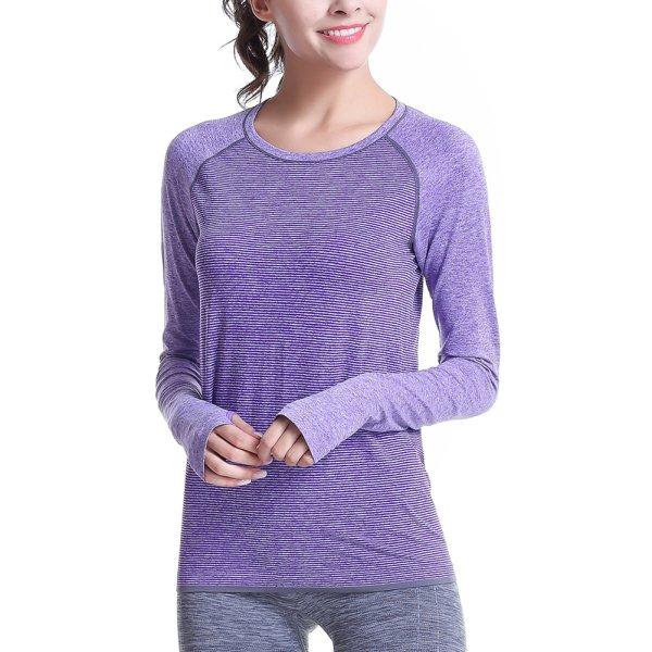 Women fitness shirts long sleeve sports workout running t for Workout shirt for women