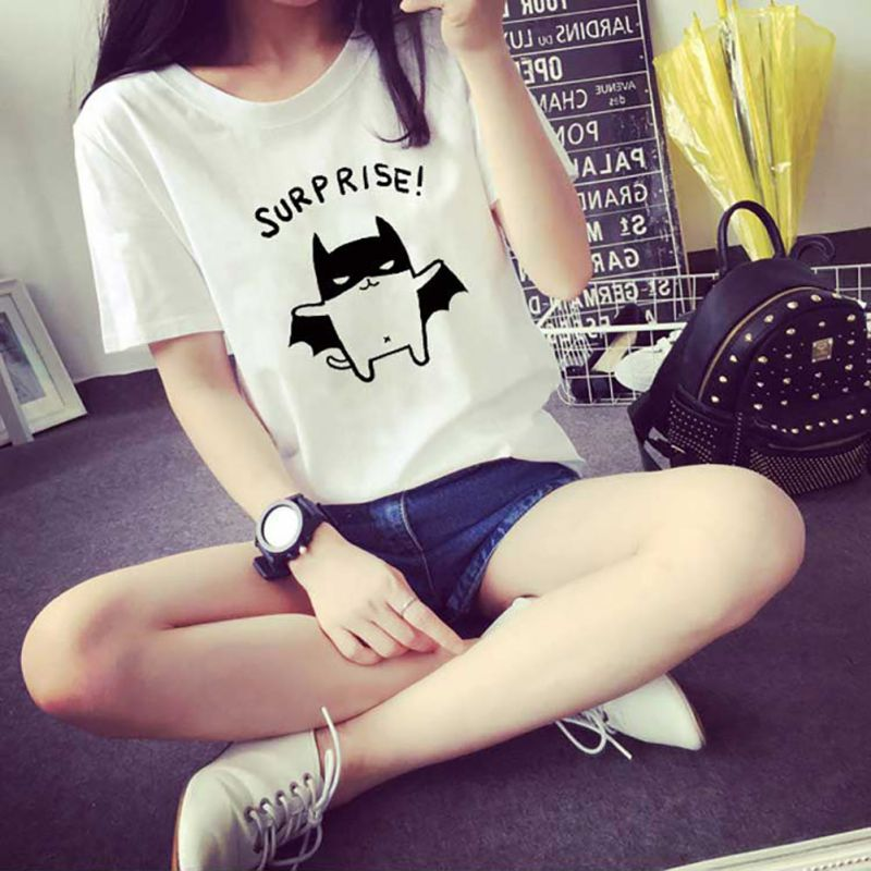 Fashion-Womens-Summer-Tops-Ladies-Comfort-Short-Sleeve-Cartoon-Blouse-T-Shirt