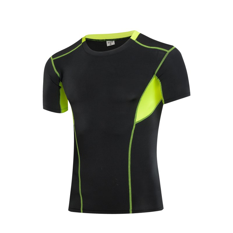 Men 39 s quick dry compression athletic tops short sleeve t for Mens sport t shirts