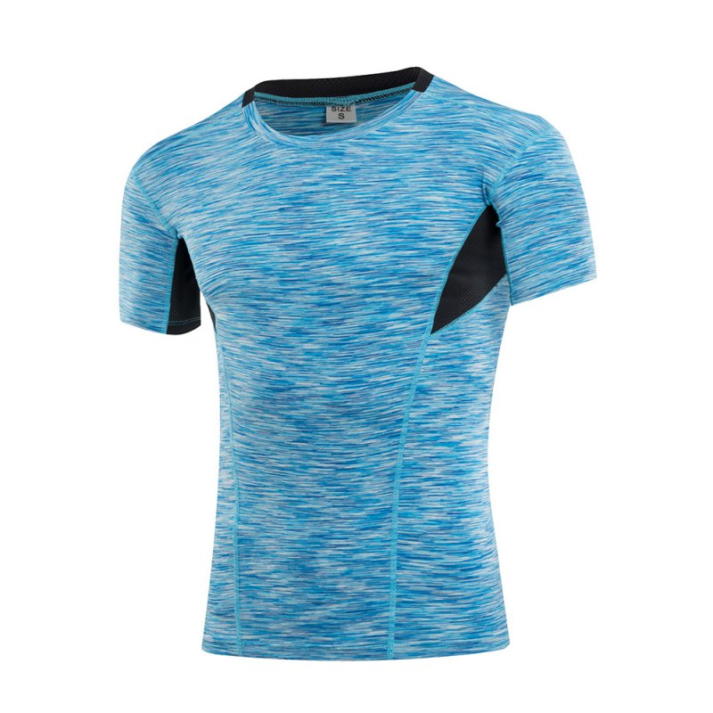 Camo print men 39 s athletic apparel sport t shirt quick dry for Quick print t shirts