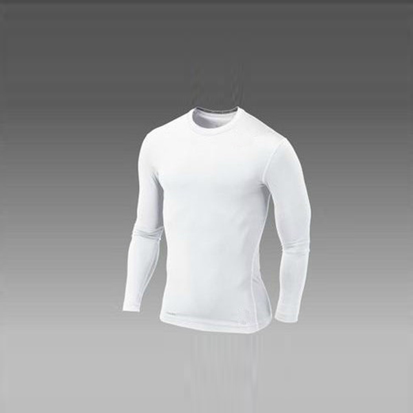 Men Long Sleeve Compression Sports T shirts Crew Neck Tight Base ...