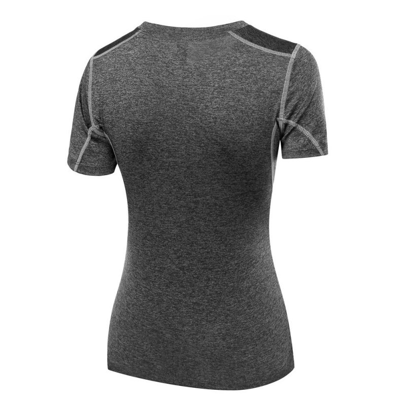 Quick-Dry-Women-039-s-Gym-Yoga-Running-Fit-Short-Sleeve-T-Shirt-Sports-Stretch-Tops