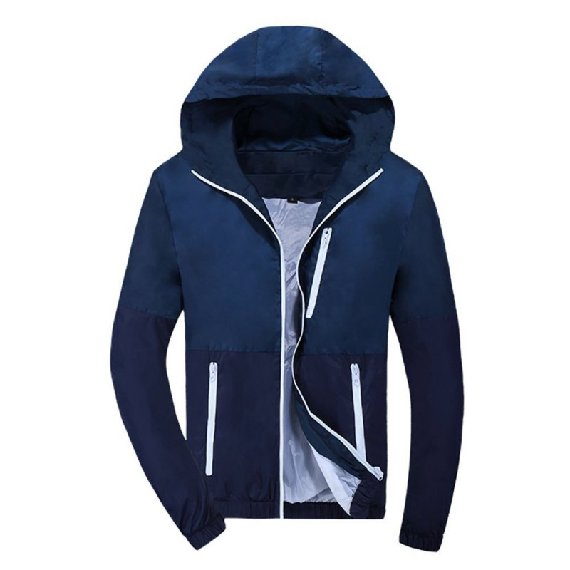Men Boy Waterproof Windbreaker Jacket Hoodie Zipper Sports Coat ...