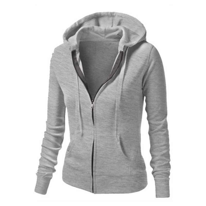 Fashion Women Hoodie Shirt Jacket Coat Hooded Zipper Top ...