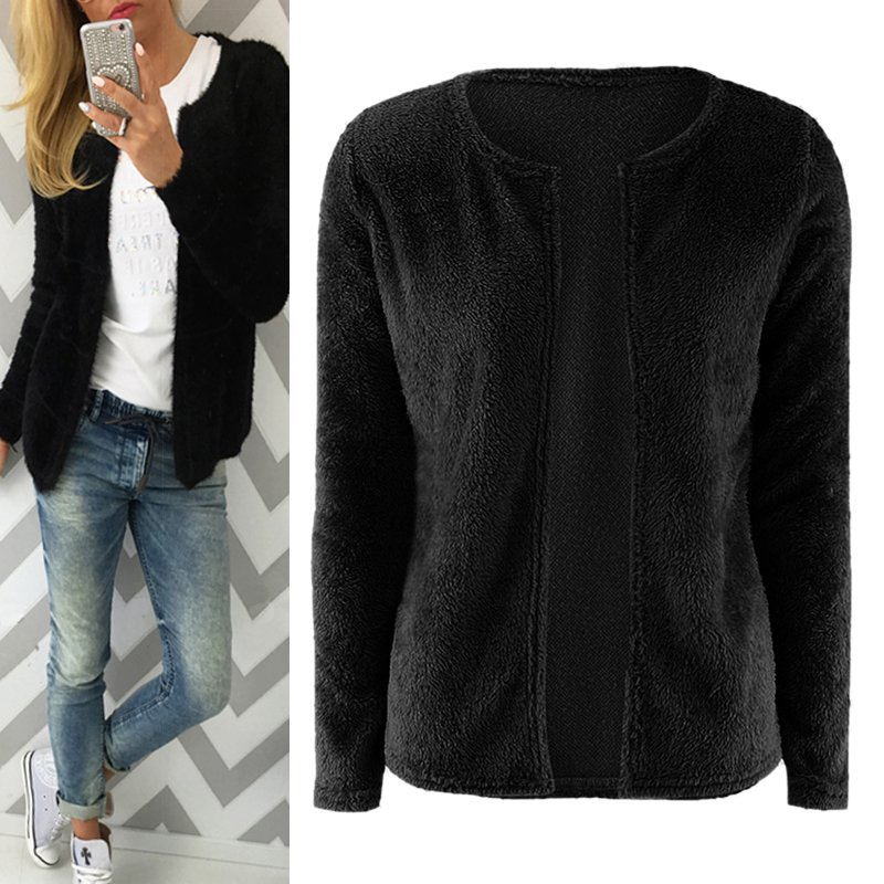 Women-Long-Sleeve-Knitted-Cardigan-Tops-Loose-Casual-Sweater-Outwear-Jacket-Coat thumbnail 16