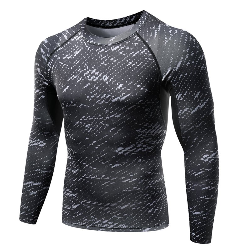 Men-039-s-Long-Sleeve-Compression-Under-Skins-Baselayer-T-Shirt-Sports-Athletic-Tops