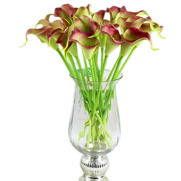 diy home calla lily bridal wedding bouquet latex real touch flower bouquets h65. Black Bedroom Furniture Sets. Home Design Ideas
