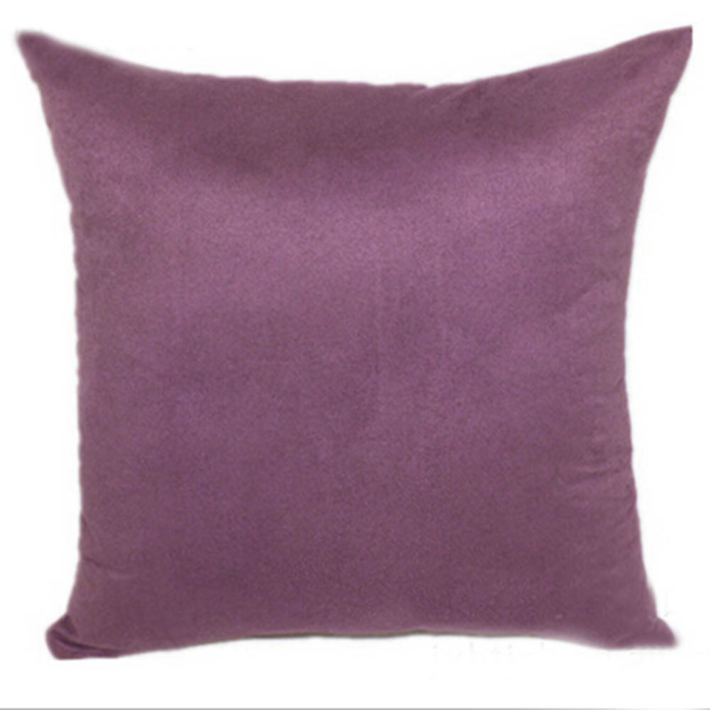 Pure Color Sofa Throw Home Decor Cushion Cover Pillow Case Hot Square Suede Nap