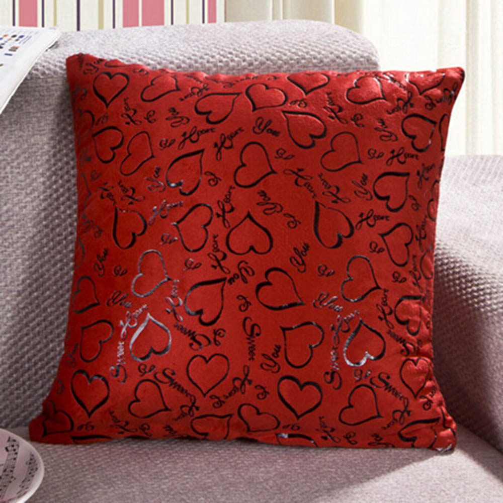 Square Throw Pillow Cases : 8 Color Sofa Home Bed Throw Pillow Cases Cushion Cover Heart Pattern Square 16