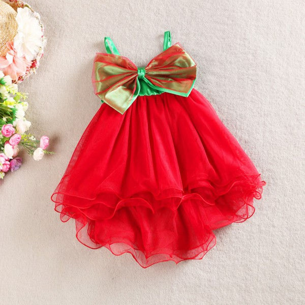 Baby Girl Kids Big Bow Princess Dresses Suspender Tulle