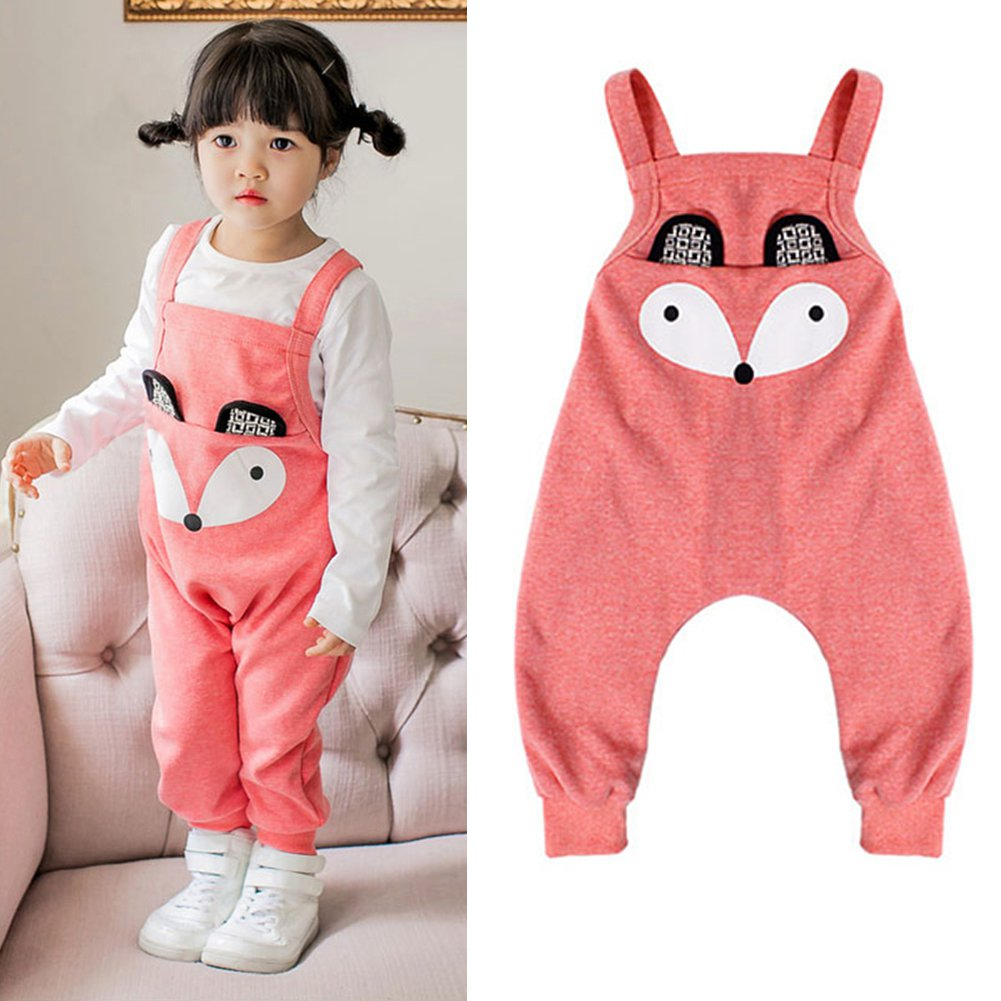 Cartoon Animal Pattern Baby Girl Boy Overalls Kids Toddler ...