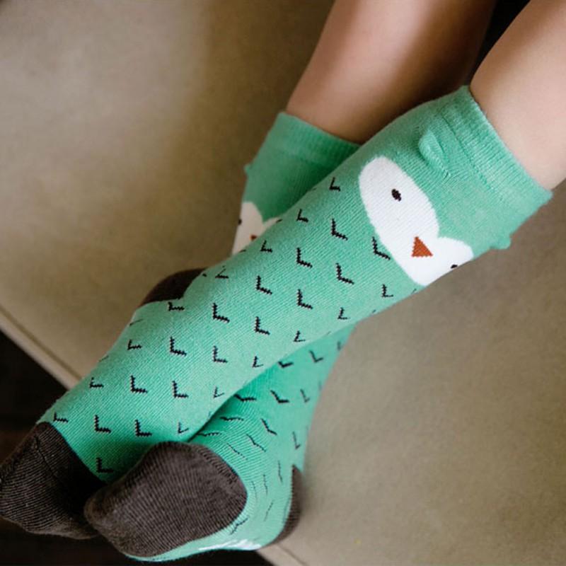 Kids Baby Girls High Knee Socks Cotton School Socks