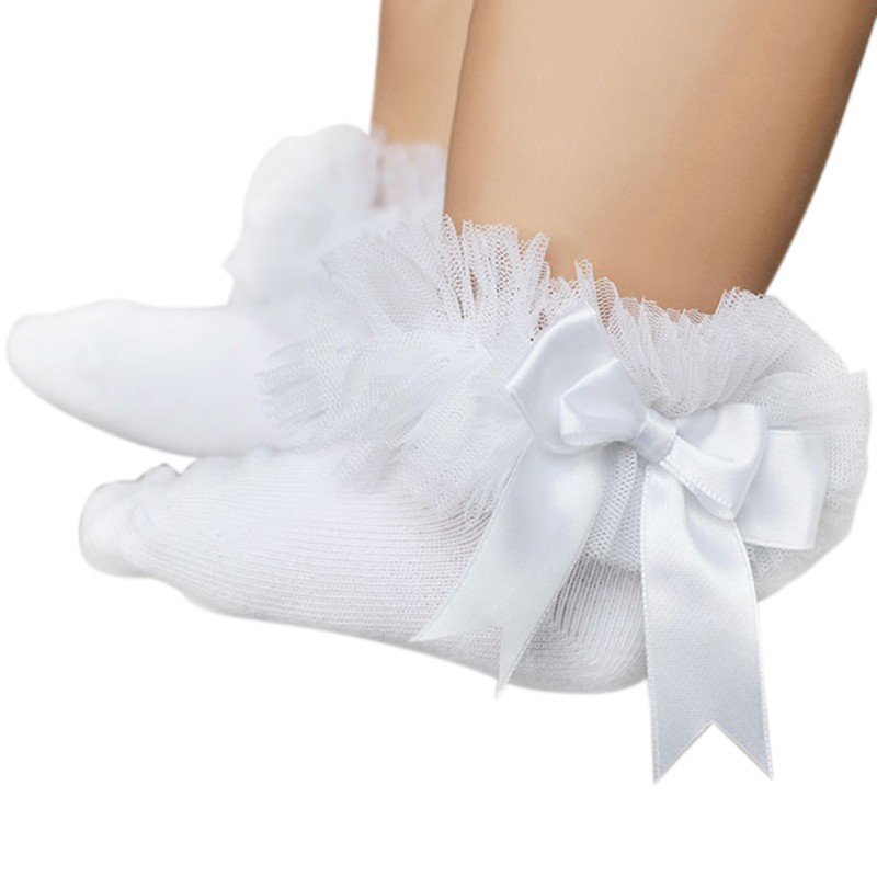 Cute Toddler Girls Lace Ruffle Frilly Ankle Socks Princess